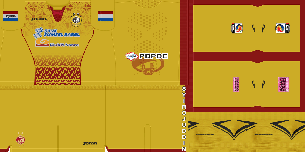 PES 2013 Kit Sriwijaya FC Terbaru 2015-2016